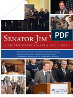 Senator Webb's Six-Year Legislative Report