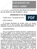 Ordenanza contra la discriminación de Pueblo Libre