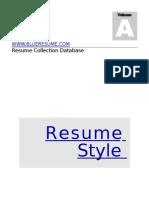 CV FORMATS