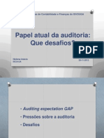 O papel atual da auditoria