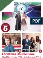 Sváteční programový průvodce - kanály pod hlavičkou Channel 5