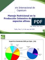 Manejo Nutricional en Ajies y Especies Afines I