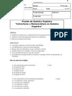 Corrección - Prueba de nomenclatura y estructuras orgánicas Maria Isabel Salgado