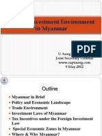Trade Investment Environment in Myanmar 8.5.12