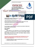 infocon selection order