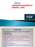 Disaster Mitigation Strategies in India