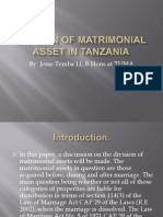 Division of Matrimonial Asset in Tanzania