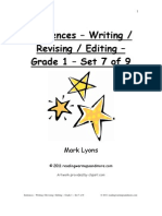 Demo Sentences Writing Revising Editing Grade Set Of