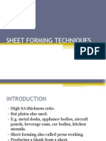 Sheet Forming Techniques