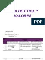 PLAN DE ESTUDIOS DEL ÁREA DE ÉTICA Y VALORES