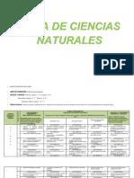 PLAN DE ESTUDIOS DEL ÁREA DE CIENCIAS NATURALES