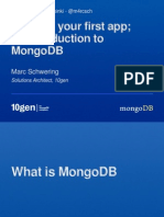 MongoDBHelsinki Building your first app in MongoDB