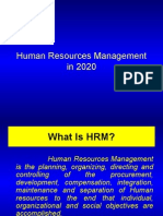 Human Resources Management in 2020