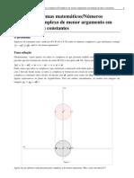 Guia de problemas matemáticos_Números complexos_Complexo de menor argumento em função de duas constantes