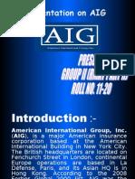 Presentation on AIG