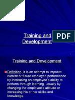 Training, Development, Socialization