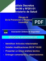 Análisis Decretos Nº 594/99 y Nº201/01 del Ministerio de Salud