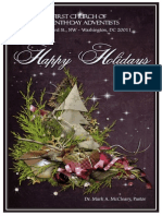 First Church of Seventh-day Adventists Weekly Bulletin (Holiday 2012)