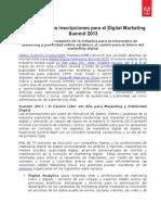 Adobe Abre Las Inscripciones Para El Digital Marketing Summit 2013