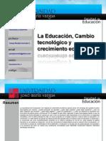 Educacion Cambio Tecnologico y Económico