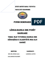 Punim Seminarik Banka Dhe Punet Bankare 1