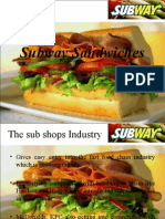 Brand Mnagement Subway Sandwiches