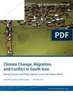 Climate Change, Migration, and Conflict in South Asia