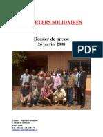 Dossier de Presse reporters solidaires