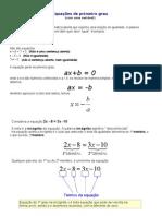 Equações de primeiro grau
