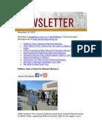 CWA Newsletter, November 29, 2012
