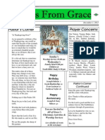 Grace Newsletter for December 2012