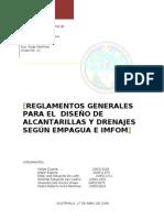 5403967 Normas y Reglamentos de Diseno de Alcantarillas y Drenajes de EMPAGUA e INFOM