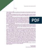 Carta de Mauricio Macri a Daniel Scioli
