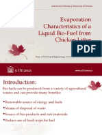 Evaporation Characteristics of a Liquid Bio-Fuel