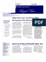 Newsletter for Jan 2005