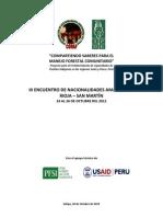 III encuentro de nacionalidades amazónicas en la Región San Martín Perú