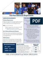 First Year Admission Requirements