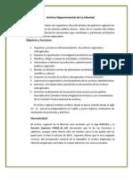 Archivo Departamental de La Libertad