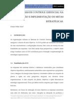 Sistemas de Controle Gerencial na Formação e implementação de Metas estratégicas