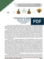 Oferendas Na Umbanda - (Aula 05 - Parte 01)