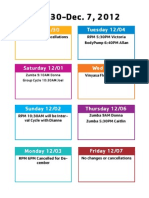 Group Exercise Update Nov30-Dec7