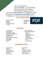 Lista de Secuencias Oscar Bejarano Actualizado Julio 2012