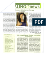 20121112 newsletter Gerson Therapy