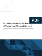 Top 5 Requirements for Backup of Virtual and Physical Servers - 1105APPASSURE1