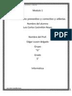 Mantenimiento Preventivo y Correctivo e Utilerias