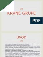 KRVNE GRUPE-FIZIOLOGIJA