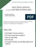Exploratory factor analyses (Phân tích nhân tố khám phá EFA)
