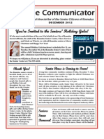 Communicator Senior Newsletter - December 2012