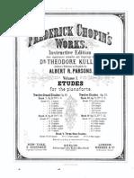 Frederick Chopin's Works - Volume 1 - Etudes