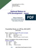 National Status on LFR Development in Japan 1 - Takahashi